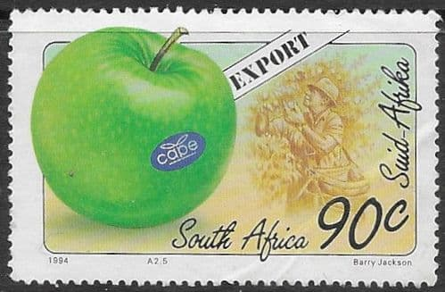 South Africa 1994 Export Fruit SG 832 Apple and picker Fine Used