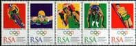 South Africa 1996 Olympic Games Atlanta Tenant Strip Fine Mint