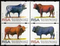South Africa 1997 Cattle Breeds Set Fine Mint