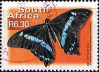 South Africa 2000 Butterflies SG 1228 Narrow blue-banded swallowtail Fine Used