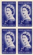 South Africa Queen Elizabeth II 1953 Coronation Fine Mint Block of 4