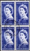 South Africa Queen Elizabeth II 1953 Coronation Fine Used Block of 4