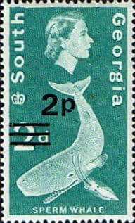 South Georgia 1971 Decimal Surcharges SG 21 Fine Used Scott 20 Stamps