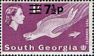 South Georgia 1971 Decimal Surcharges SG 27 Fine Used Scott 2