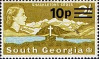 South Georgia 1971 Decimal Surcharges SG 28 Fine Mint