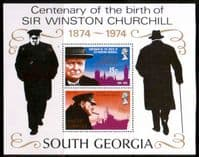 South Georgia 1974 Churchill Centenary Miniature Sheet Fine Mint
