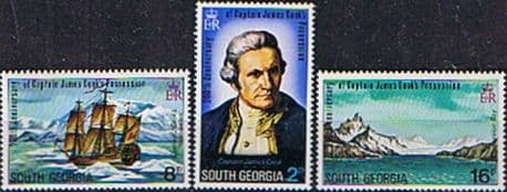 Stamps Stamps South Georgia 1975 Captain Cook Set Fine Mint