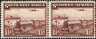 South West Africa 1937 SG 96 Mail Train Horizontal Pair Fine Mint