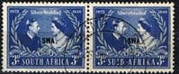 South West Africa 1948 King George VI Royal Silver Wedding Set Fine Used