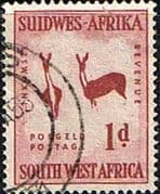 South West Africa 1954 SG 154 Rock Paintings Two Bucks Fine Used