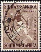 South West Africa 1954 SG 155 Rock Paintings White Lady Fine Used