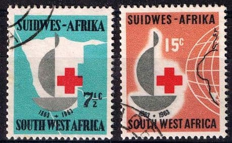 South West Africa 1963 Red Cross Centenary Set Fine Used