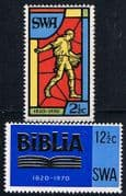South West Africa 1970 Bible Society Set Fine Mint