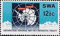 South West Africa 1971 Antarctic Treaty Fine Mint
