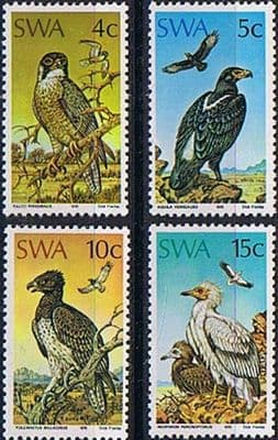 South West Africa 1975 Protected Birds of Prey Set Fine Mint