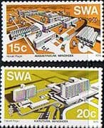 South West Africa 1976 Modern Buildings Set Fine Mint