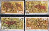 South West Africa 1976 Prehistoric Rock Paintings Set Fine Mint