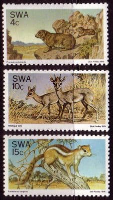 Stamps of South West Africa 1976 SG 290 2 Fauna Conservation Set Fine Mint Namibia