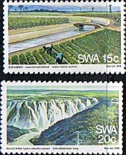 South West Africa 1976 Water and Electricity Supply Set Fine Mint