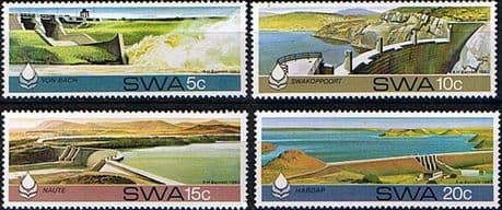 Stamps of South West Africa 1980 Water Conservation Dams Set Fine Mint Namibia
