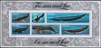 South West Africa 1980 Whales Miniature Sheet Fine Mint