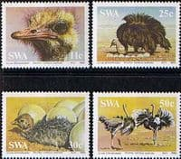 South West Africa 1985 Ostriches Set Fine Mint