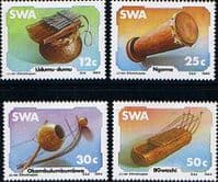 South West Africa 1985 Traditional Musical Instruments Set Fine Mint