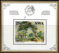 South West Africa 1987 Paintings by Thomas Baines Miniature Sheet Fine Mint