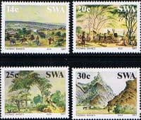 South West Africa 1987 Paintings by Thomas Baines Set Fine Mint