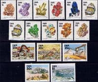 South West Africa 1989 Complete Minerals Set Includes SG 524a Fine Mint