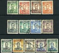 Southern Rhodesia 1937 George VI Head Set Fine Used