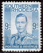 Southern Rhodesia 1937 George VI Head SG 46 Good Used