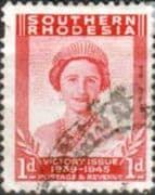 Southern Rhodesia 1946 King George VI Victory SG 64 Fine Used