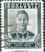 Southern Rhodesia 1946 King George VI Victory SG 65 Fine Used
