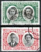 Southern Rhodesia 1947 Royal Visit Fine Used