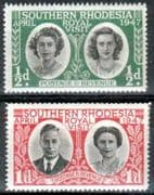 Southern Rhodesia 1947 Royal Visit Set Fine Mint