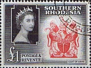 Southern Rhodesia 1953 QE II SG 91 Coat of Arms Fine Used