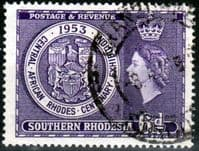 Southern Rhodesia 1953  Rhodes Exhibition SG 76 Fine Used