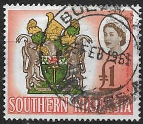 Southern Rhodesia 1964 QE II SG 105 Coat of Arms Fine Used