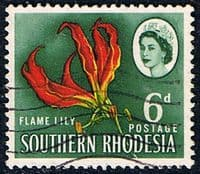 Southern Rhodesia 1964 SG 97 Lily Plant Fine Used