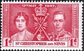 St Christopher and Nevis 1937 King George VI Coronation SG 65 Fine Mint