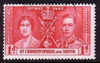 St Christopher and Nevis 1937 King George VI Coronation SG 65 Fine Used
