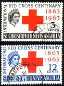 St Christopher Nevis Anguilla 1963 Red Cross Centenary Set Fine Used