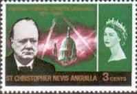 St Christopher Nevis Anguilla 1966 Churchill SG 152 Fine Mint