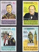 St Christopher Nevis Anguilla 1974 Churchill Centenary Set Fine Mint