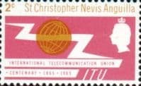 St Christopher Nevis Anguilla International Telecomunication Union SG 147 Fine Mint