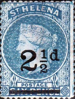 St Helena 1864 Queen Victoria Surcharged SG 40 Fine Used