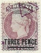 St Helena 1864 Queen Victoria Surcharged SG 41 Fine Used