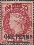 St Helena 1884 Queen Victoria Surcharged SG 37 Fine Mint