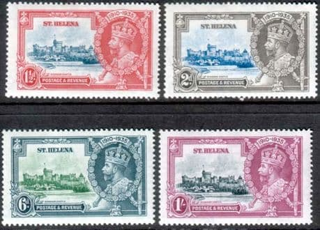 St Helena Stamps 1935 King George V Silver Jubilee Set Fine Mint